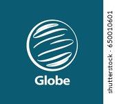 vector logo globe | Shutterstock .eps vector #650010601