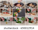 a step by step collage of... | Shutterstock . vector #650012914