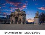 arc de triomphe at the place du ... | Shutterstock . vector #650013499