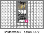 mega set of 100 positive quotes ... | Shutterstock .eps vector #650017279