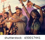 people enjoying live music... | Shutterstock . vector #650017441