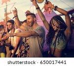 people enjoying live music... | Shutterstock . vector #650017441