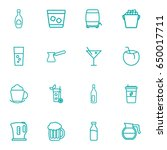 set of 16  outline icons set... | Shutterstock .eps vector #650017711