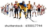 huge multi sports collage... | Shutterstock . vector #650017744