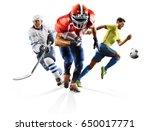 multi sport collage soccer... | Shutterstock . vector #650017771