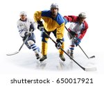professional ice hockey players ... | Shutterstock . vector #650017921