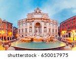 Rome Trevi Fountain Or Fontana...