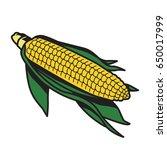 sketchy corn flat icon vector... | Shutterstock .eps vector #650017999