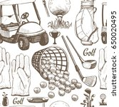 seamless golf pattern with... | Shutterstock .eps vector #650020495