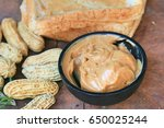 peanut butter and bread | Shutterstock . vector #650025244