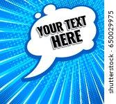 white pop art style banner on... | Shutterstock .eps vector #650029975