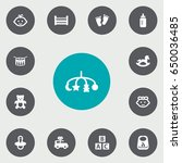 set of 13 baby icons set...   Shutterstock .eps vector #650036485