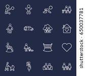 set of 16 relatives outline... | Shutterstock .eps vector #650037781