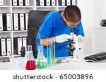 african american female lab... | Shutterstock . vector #65003896