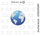 world globe vector illustration. | Shutterstock .eps vector #650039089