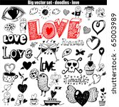 vector set   love | Shutterstock .eps vector #65003989