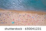 tropical beach with colorful... | Shutterstock . vector #650041231