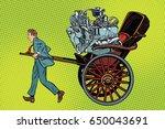 manual labor vs mechanical ...   Shutterstock .eps vector #650043691