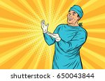 doctor surgeon after the...   Shutterstock .eps vector #650043844
