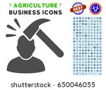 head shock gray icon with... | Shutterstock .eps vector #650046055