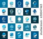 vector logo globe | Shutterstock .eps vector #650047465