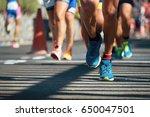marathon running race  people... | Shutterstock . vector #650047501