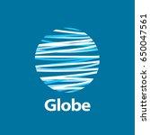 vector logo globe | Shutterstock .eps vector #650047561