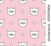 tile vector pattern with white... | Shutterstock .eps vector #650050804