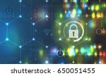 cybersecurity and information... | Shutterstock .eps vector #650051455