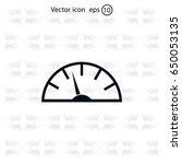 speedometer icon or sign with... | Shutterstock .eps vector #650053135