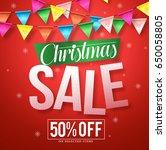christmas sale vector banner...   Shutterstock .eps vector #650058805