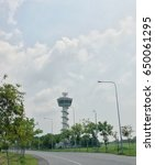 Small photo of Air transportation radar tower in Bangkok,Thailand May 25,2017