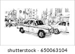 sketch of cityscape in india... | Shutterstock .eps vector #650063104