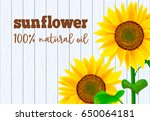 Sunflowers On White Wooden...