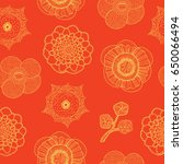 seamless pattern with tropical... | Shutterstock .eps vector #650066494