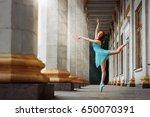 ballerina posing out of doors....