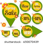 spring sale banners | Shutterstock . vector #650070439