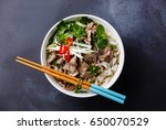 pho bo vietnamese soup with... | Shutterstock . vector #650070529