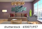 interior living room. 3d... | Shutterstock . vector #650071957