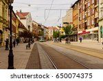 miskolc   april 15  main street ... | Shutterstock . vector #650074375