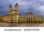 eger main square in hungary ... | Shutterstock . vector #650074549