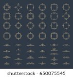 retro rosette and victorian... | Shutterstock . vector #650075545