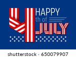 happy 4th of july greeting card ... | Shutterstock .eps vector #650079907
