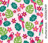 Seamless Pattern With Plumeria...