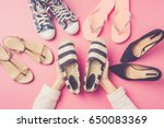 woman's shoes collection.... | Shutterstock . vector #650083369