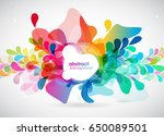 abstract colored background... | Shutterstock .eps vector #650089501