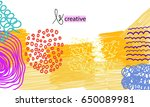 set of creative hand drawn... | Shutterstock .eps vector #650089981
