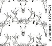 deer skull pattern | Shutterstock .eps vector #650094205