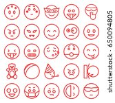 funny icons set. set of 25... | Shutterstock .eps vector #650094805