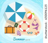 summer background with... | Shutterstock .eps vector #650096125